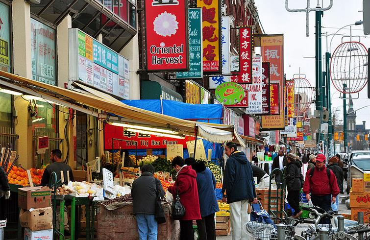 "Image: ""Chinatown toronto spadina avenue"" by chensiyuan - chensiyuan. Licensed under GFDL via Wikimedia Commons."