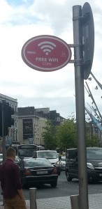 In 2014, free Wi-Fi was introduced to the main inner city streets in Cork, Ireland (Source: Therese Kenna, 2014)