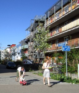 Improved intergenerational equity in a traffic-calmed zone in Vauban, Germany