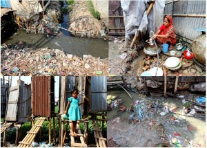 Dhaka Urban Slum Water Supply and Sanitation scenario.